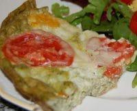 Tomato-Basil Mozzarella Fritatta Slice