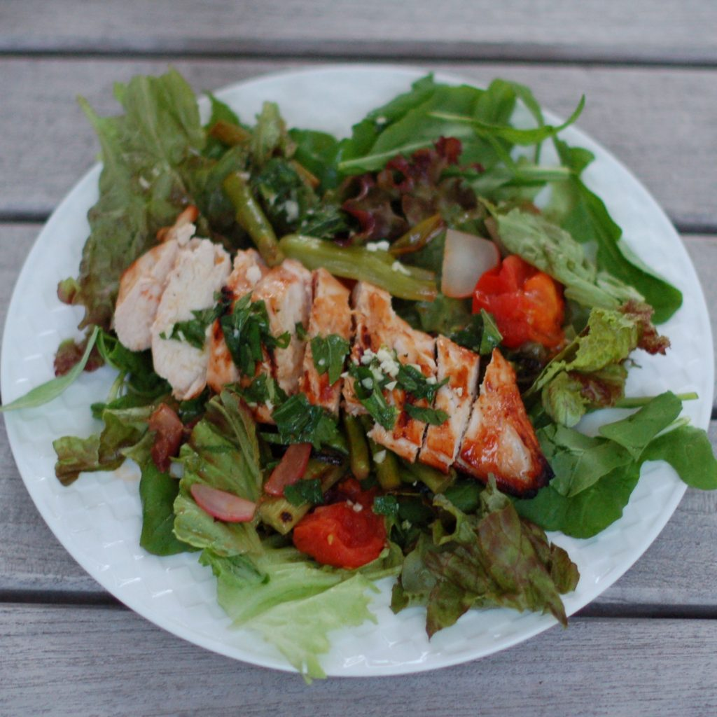 Grilled Chicken and Spring Vegetable Salad