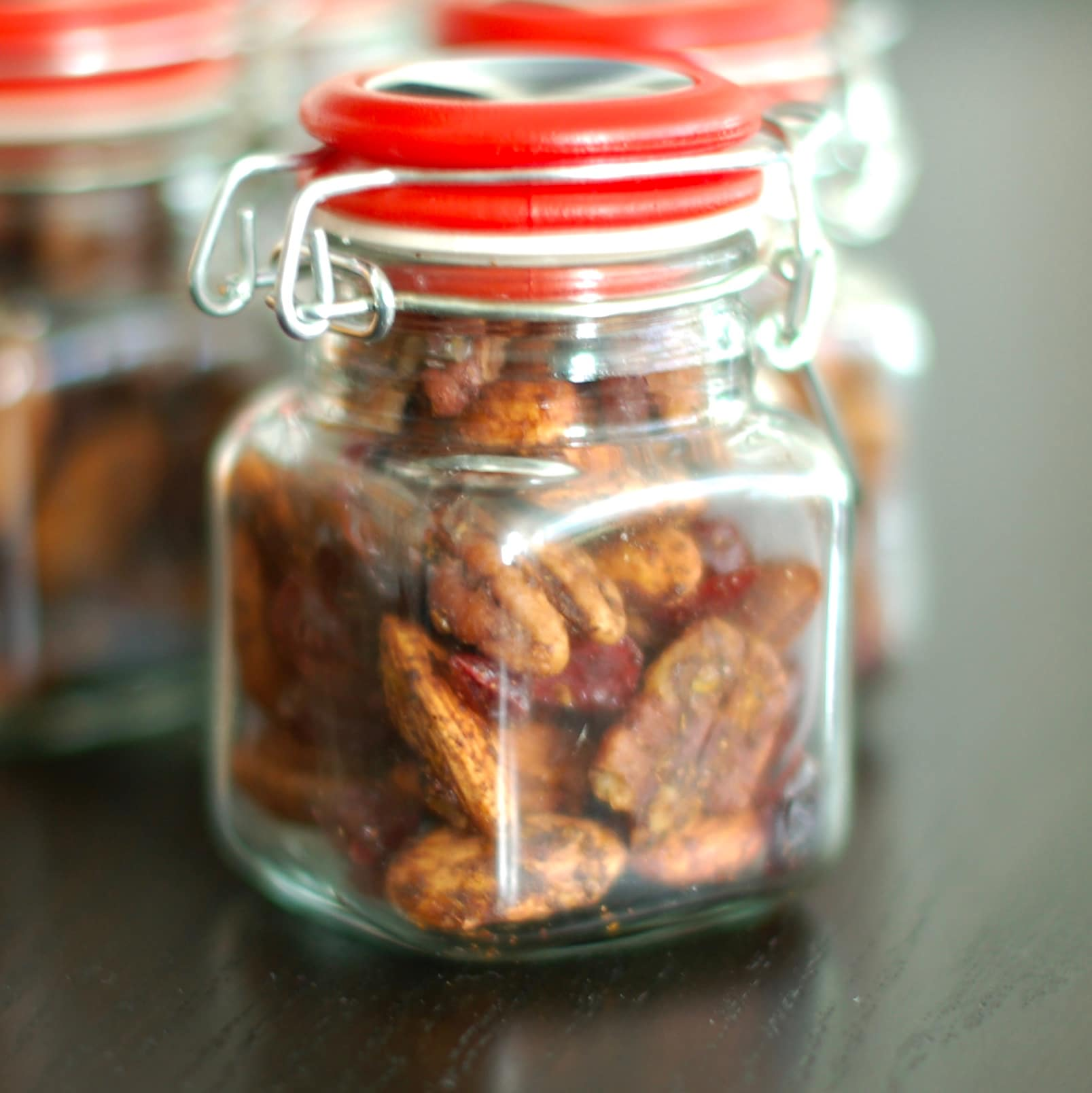 Sweet and Spicy Orange-Scented Nuts are a delicious homemade holiday gift, addition to a cocktail party spread, or anytime snack. Gluten-free, vegetarian.