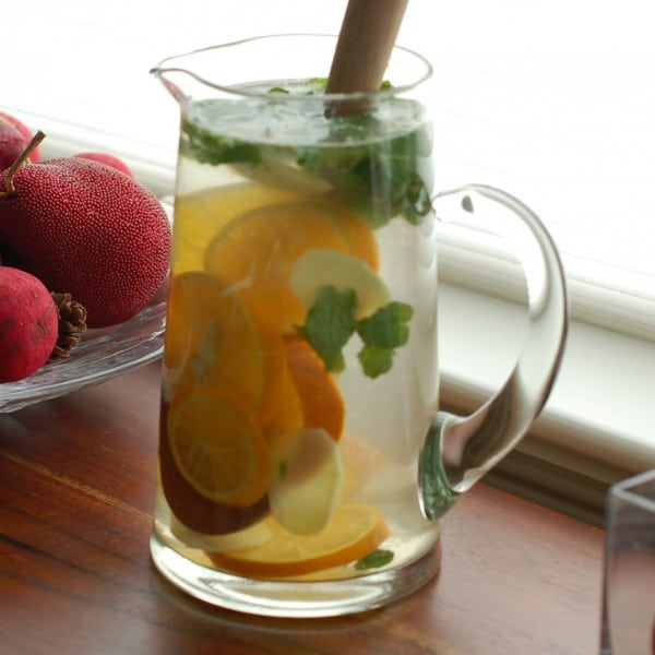 orange ginger mint spa water recipe redux