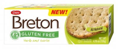 Breton Gluten Free Herb and Garlic Crackers