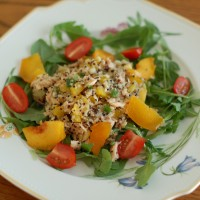 Salmon Peach Quinoa Salad