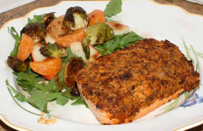 gluten free egg free crusted salmon