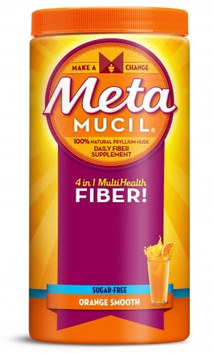 Metamucil fiber supplement powder provides 3 grams of fiber per tablespoon, will help you feel less hungry between meals, help maintain blood sugar levels, and help to promote digestive health. #ad
