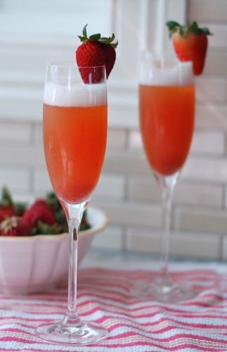 Strawberry Rhubarb Mimosa @Jlevinsonrd