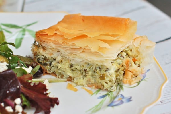 Golden crisp on the outside, light and fluffy on the inside, this savory zucchini pie with mint speaks summer. @jlevinsonrd