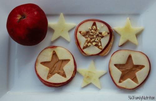 Apple Peanut Butter Cut-Out Sandwiches @ 360 Family Nutrition - Back to School Meal Planning