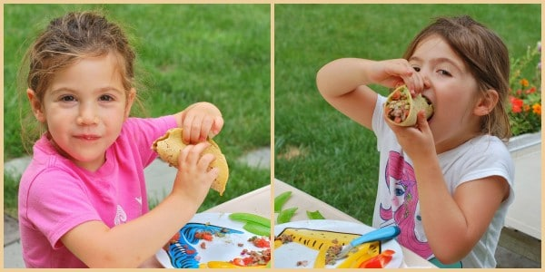 Even little kids will love these chipotle beef tacos with watermelon salsa!