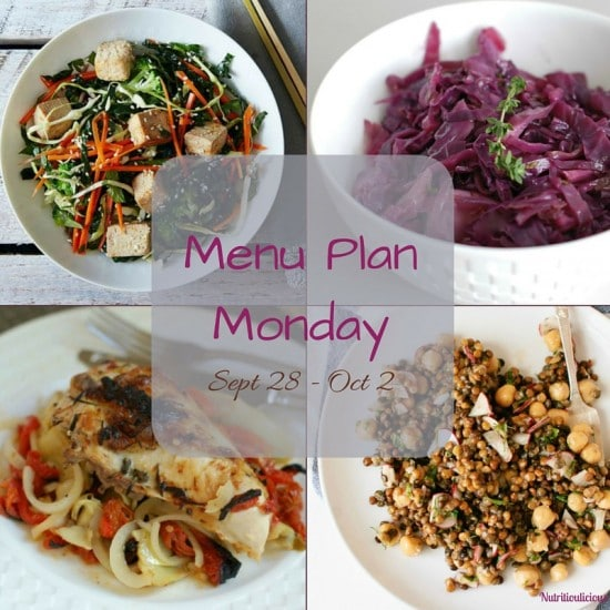 Nutritioulicious Menu Plan week of September 28, 2015