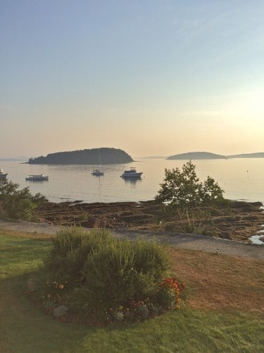 View from my room at the Bar Harbor Inn & Spa