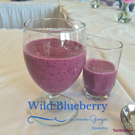 Zesty, tart, and refreshing, this wild blueberry lemon ginger smoothie is a nutrition-filled mid-day pick me up! @jlevinsonRD