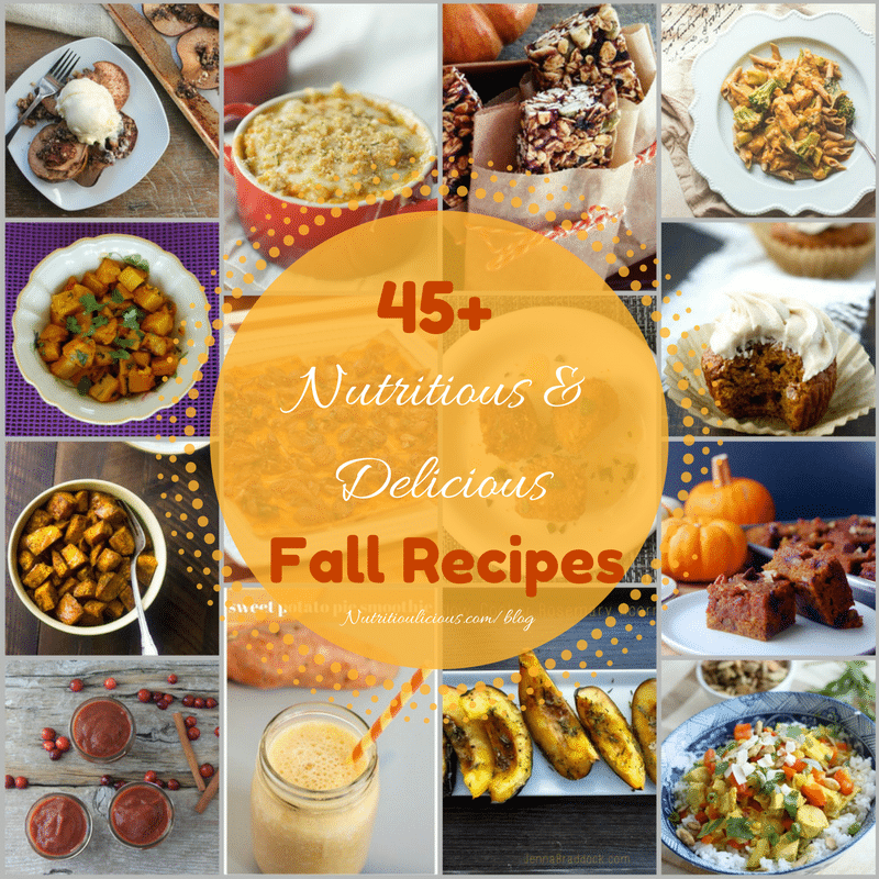 The ultimate fall recipe roundup! Over 45 nutritious and delicious fall recipes that will keep you cooking all season long. @jlevinsonrd
