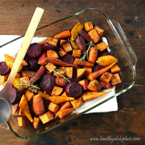 Maple Balsamic Roasted Winter Vegetables @ Healthy Ideas Place