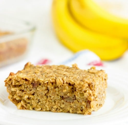 Banana Nut Quinoa Bars are a great way to eat quinoa for breakfast or a healthy snack. They're gluten free and full of healthy fats, fiber, and protein. @afinks
