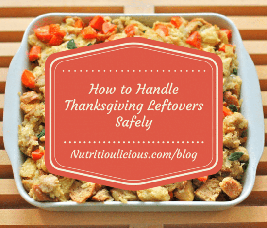 Don't let all those delicious Thanksgiving leftovers go to waste. Find out how to safely store leftovers with these five tips @jlevinsonRD