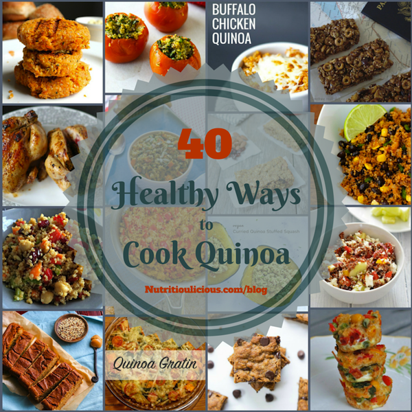 Quinoa is a nutrient-rich ancient grain that can be used for breakfast, lunch, dinner, and snacks. Here are 38 healthy quinoa recipes to try. @jlevinsonRD