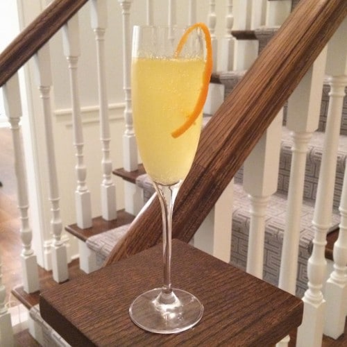 Orange French 75 Champagne Cocktail @ Jessica Levinson, MS, RDN, CDN