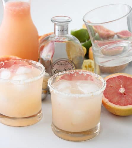 Grapefruit Margaritas @ Living Well Kitchen