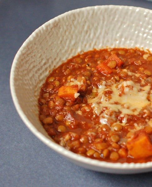 Hearty Vegetable Lentil Chili @JlevinsonRD