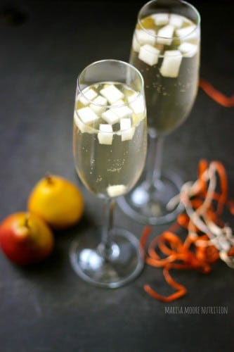 Pear Prosecco Cocktail @marisamoore