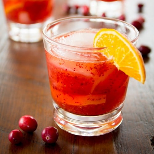 cranberry tangerine negroni @HealthySeasonalRecipes