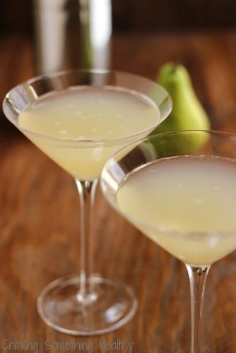 ginger pear martini @AnneDanahyRD