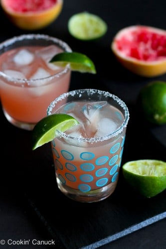 Pink Grapefruit Margarita @cookincanuck