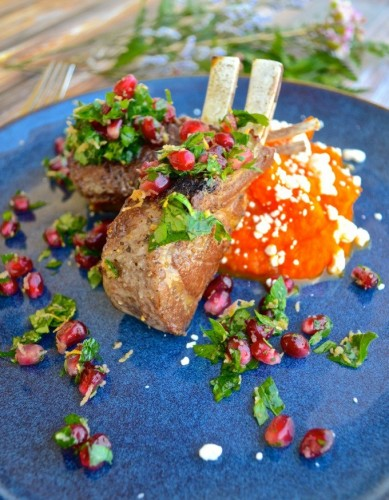 Lamb Chops with Pomegranate Gremolata @myBottomlessBF