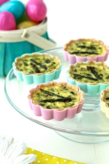 Mini Spring Vegetable Quiche @FoodiePhysician
