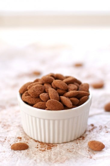 Salted Dark Chocolate Cocoa Almonds @2teaspoons
