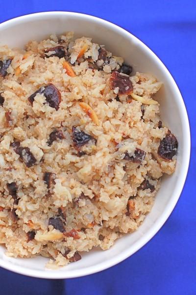 Spiced Plum Cauliflower Rice @jlevinsonrd