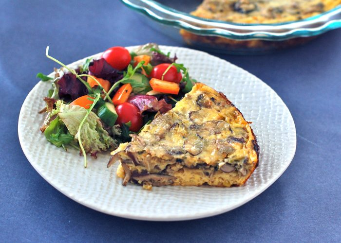 Meaty mushrooms and sweet leeks are a classic combination that pair beautifully in this easy and nutritious frittata that's perfect for a weeknight dinner or your next weekend brunch. Get the gluten-free and vegetarian recipe @jlevinsonrd.