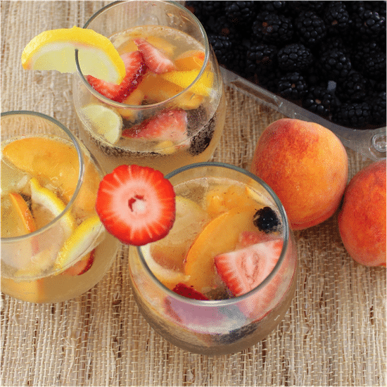 Berry Peach Sangria @ Living Well Kitchen