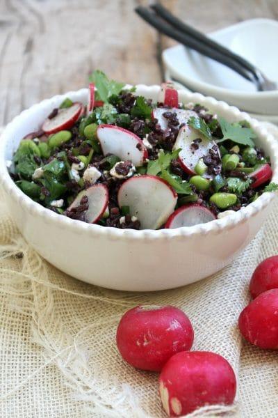Black Rice, Radish, and Feta Salad @ My Cape Cod Kitchen