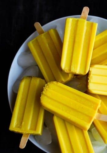 Golden Milk Popsicles @ Food, Pleasure, & Health