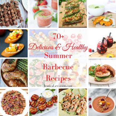 A delicious roundup of healthy summer barbecue recipes to keep you fit and your taste buds happy all season long! @jlevinsonrd