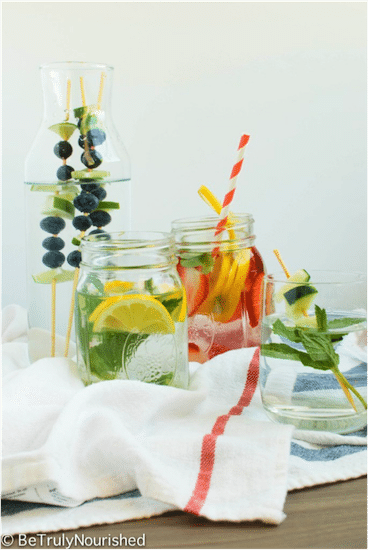 Refreshing Infused Waters @ Be Truly Nourished