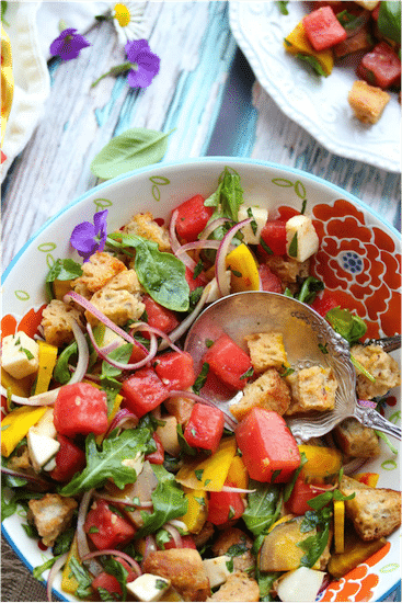 Summer Panzanella Salad @ Dishing Out Health