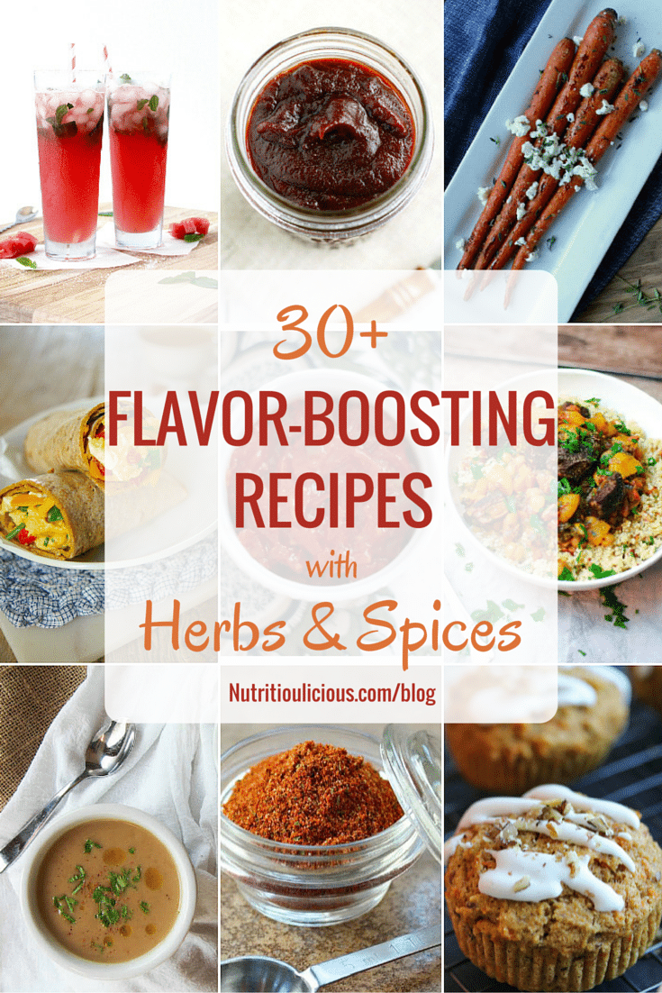 Boost flavor without adding sodium, fat and calories with over 30 nutritious and delicious recipes brimming with herbs and spices! @jlevinsonrd