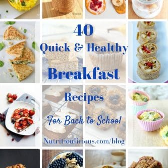 40 Quick & Healthy Breakfast Recipes for Back to School   Give your kids - and yourself - a nutritious start to their school day with these quick and healthy breakfast recipes @jlevinsonrd!