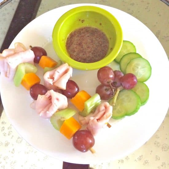 Lunch Kebabs - a quick, easy, and healthy school lunch idea