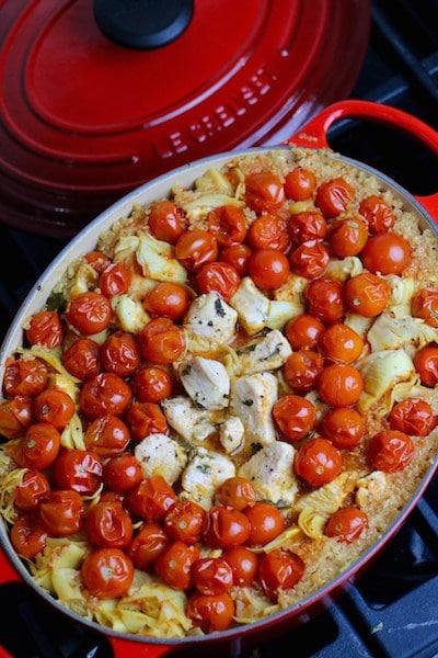 One Pot Mediterranean Chicken Quinoa