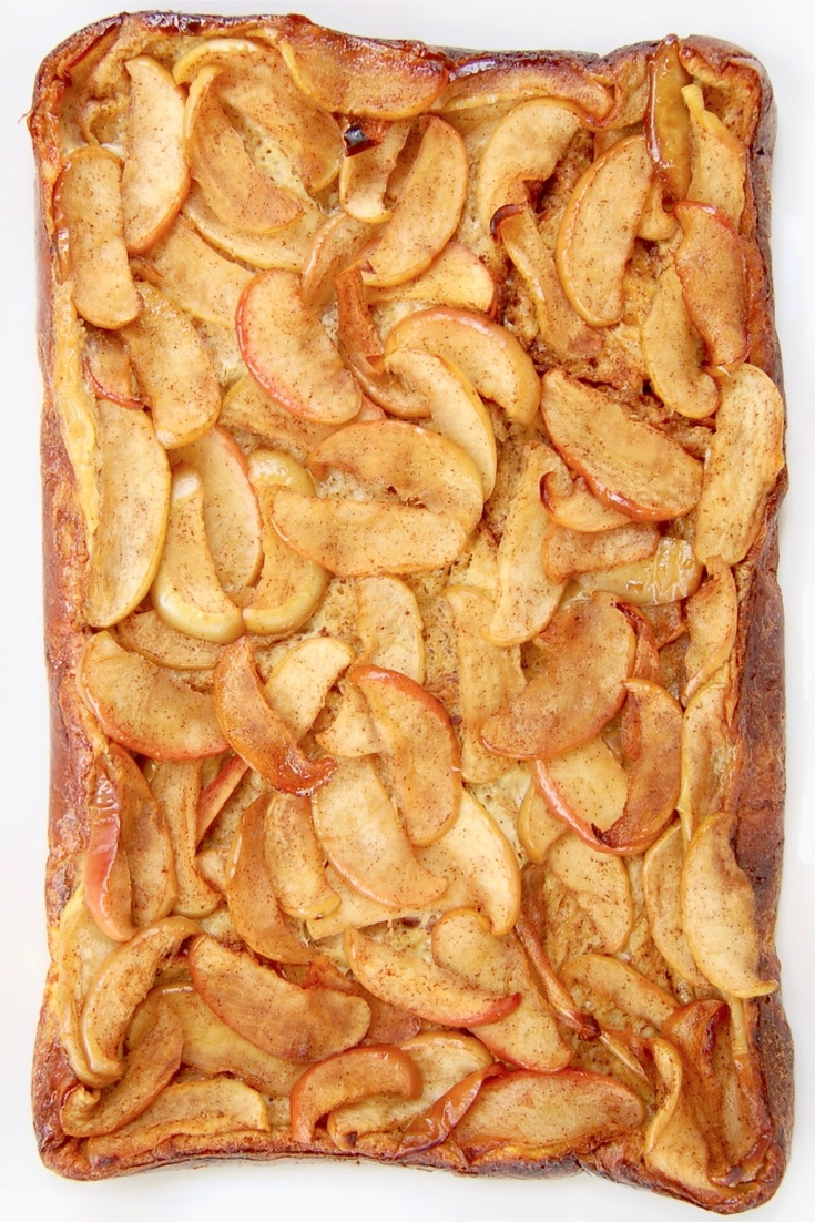 Baked Apple French Toast with caramelized apples