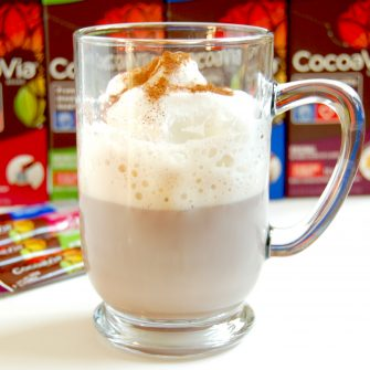 Warm up and enjoy the benefits of cocoa flavanols with this Caffé Mocha, made with nonfat milk and CocoaVia® cocoa extract supplement. Vegetarian and vegan-friendly if non-dairy milk is used. Get the recipe @jlevinsonrd.
