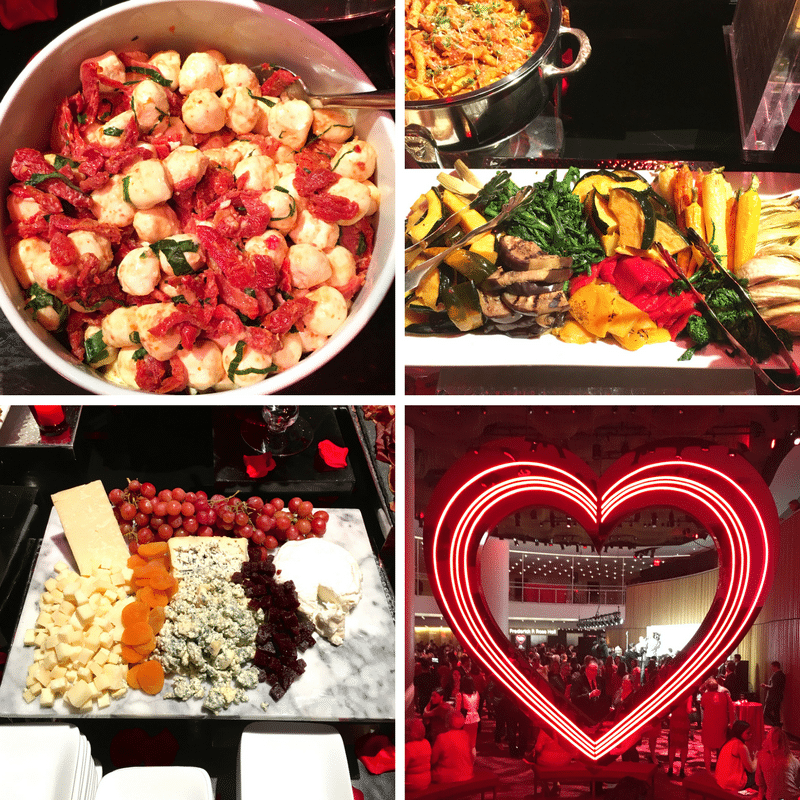 Food at the Woman's Day Red Dress Awards
