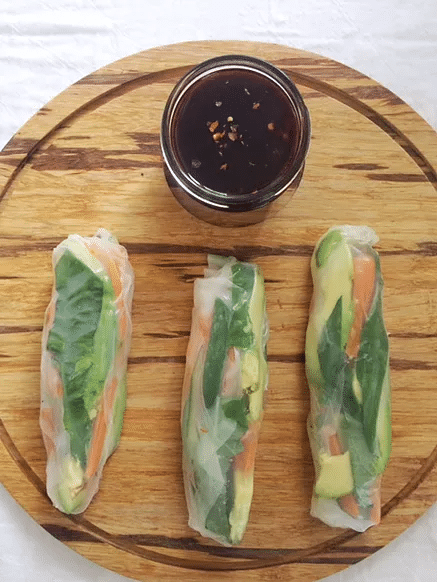 Thai Spring Rolls with Sweet and Spicy Grape Sauce @ Well Fed Nutrition