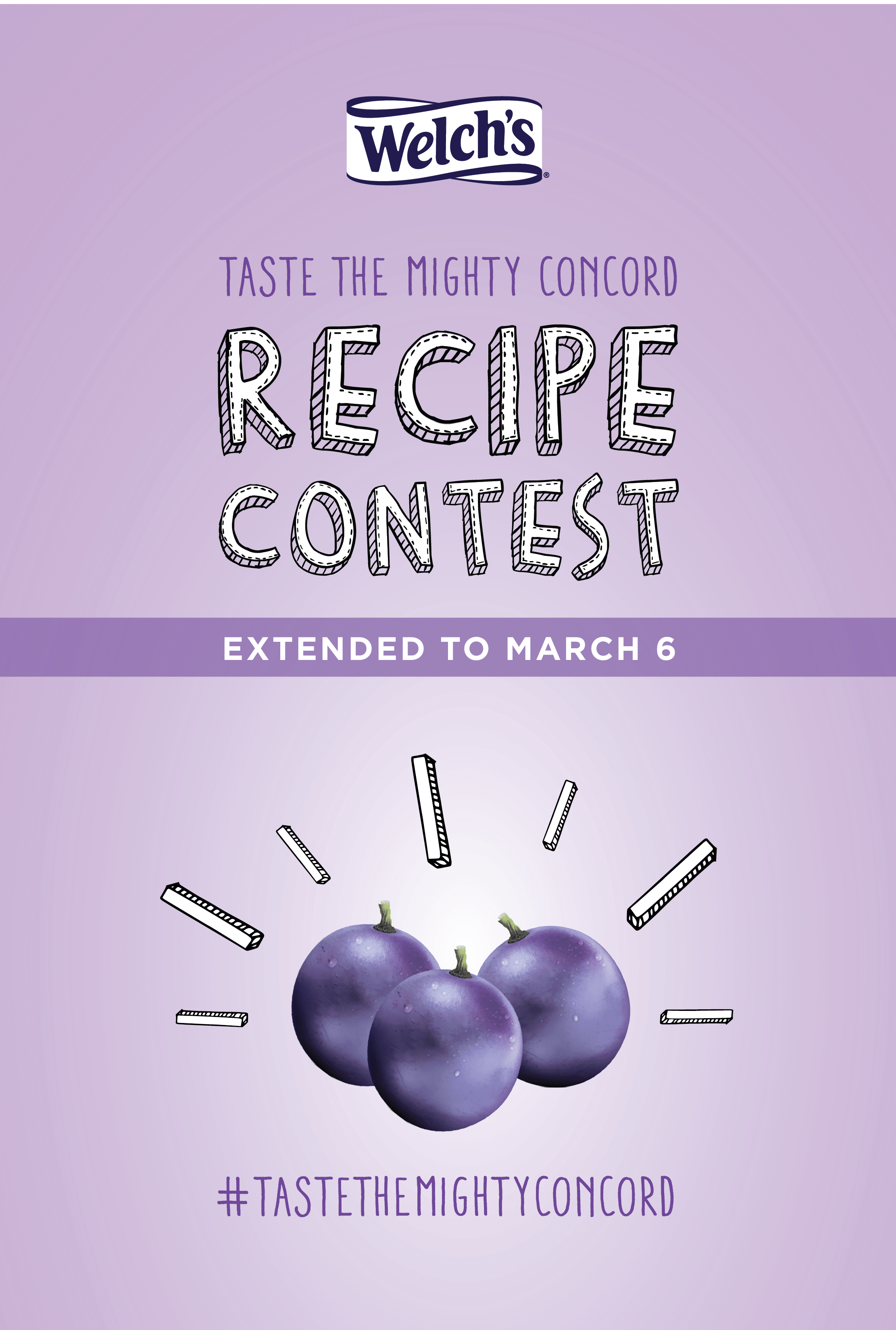 Celebrate Heart Month with the Concord grape! Throughout February, enter your heart-healthy recipes into Welch's Taste the Mighty Concord Recipe Contest! Get all the details @jlevinsonrd!