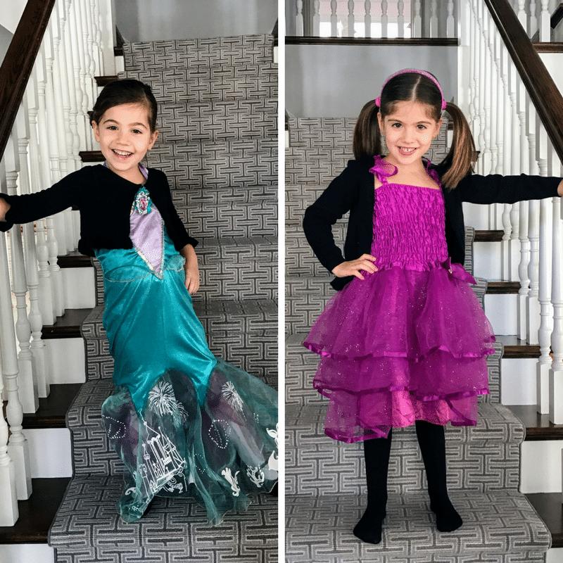 My twin girls on purim 2017