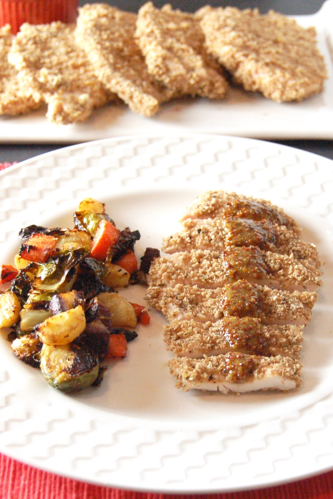 Satisfy your kids' cravings for chicken fingers in a healthier way with this crispy whole grain baked panko crusted chicken. Serve with a simple honey mustard sauce for a dinner the whole family will love. Get the dairy-free, nut-free recipe at Small Bites by Jessica