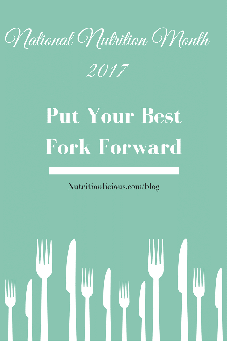 This National Nutrition Month, put your best fork forward by doing the best YOU can do to live a healthy lifestyle and enjoy what you love in life. @jlevinsonrd